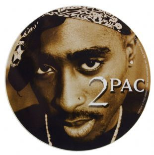 2Pac - Round Headshot (Sticker)