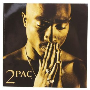 2Pac - Square Headshot (Sticker)
