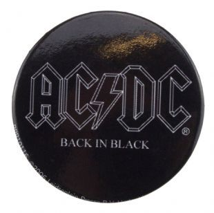 AC/DC - Back In Black (38mm Button Badge)