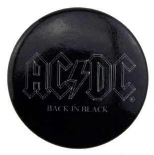 AC/DC - Back In Black Logo (25mm Button Badge)