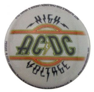 AC/DC - High Voltage (25mm Button Badge)