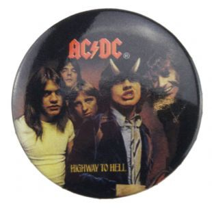 AC/DC - Highway To Hell (38mm Button Badge)