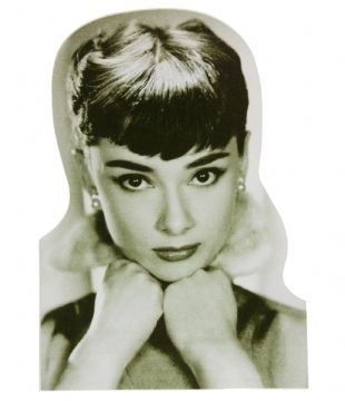 Audrey Hepburn - Black & White Portrait (Sticker)