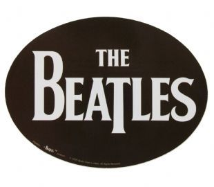Beatles (The) - Drop T Logo White On Black (Sticker)