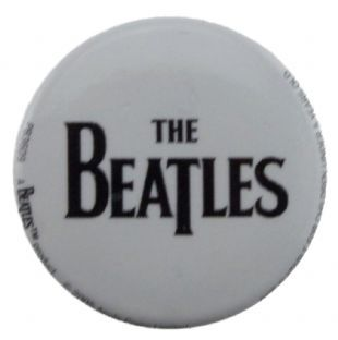 Beatles (The) - Logo Black On White (25mm Button Badge)