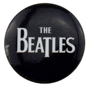 Beatles (The) - Logo White On Black (25mm Button Badge)