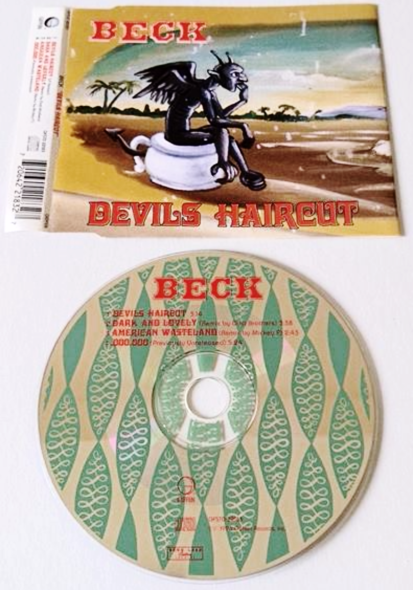 Beck Devils Haircut Cd Single Pt 1 Vg Ex