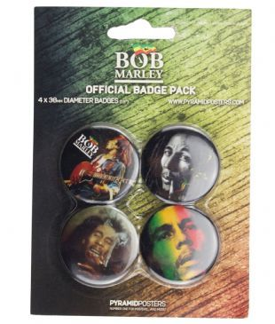 BOB MARLEY - OFFICIAL BUTTON BADGE PACK