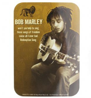 Bob Marley - Redemption Song Vertical (Sticker)