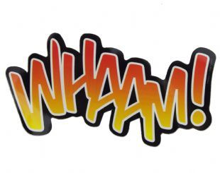 Comic Book Cut-Outs - Whaam! (Sticker)