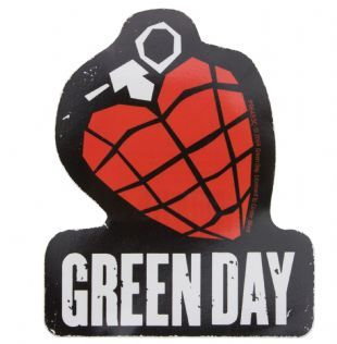 Green Day - American Idiot Grenade Logo (Sticker)