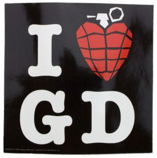 Green Day - I Love (Grenade) GD (Sticker)
