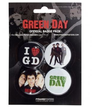 Green Day - Official Button Badge Pack