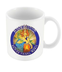 HAWKWIND: BRITISH TRIBAL MUSIC - MUG (11oz) (Brand New Sealed In Box)