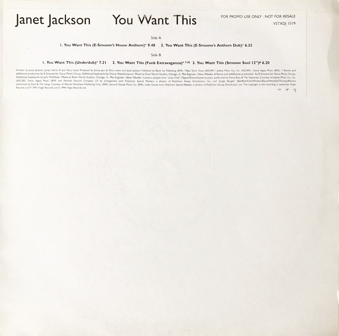 Janet Jackson - You Want This (12
