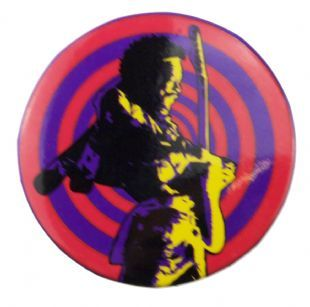 Jimi Hendrix - Psychedelic 3 (38mm Button Badge)