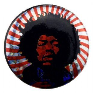 Jimi Hendrix - Psychedelic Glitter (25mm Button Badge)