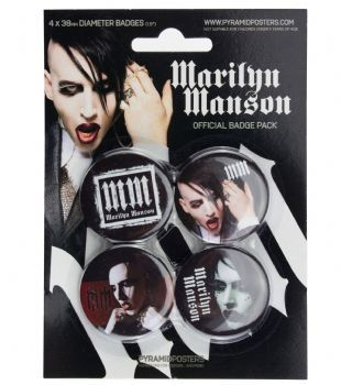 Marilyn Manson - Official Button Badge Pack