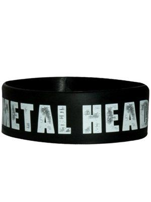Metal Head - Rubber Wristband