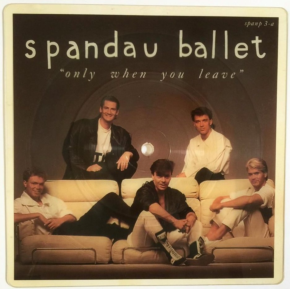 Spandau Ballet Only When You Leave 7 Shaped Picture Disc