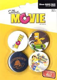 The Simpsons (Movie) - 4 Pack Badge