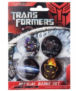 Transformers: War - Official Button Badge Pack